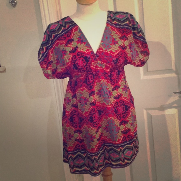 Angie Dresses & Skirts - Angie dress bright south western pattern.